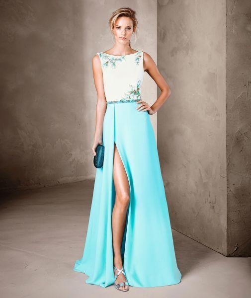 46 vestidos de fiesta azules largos 2017. ¡Encuentra el diseño más elegante! Image: 17