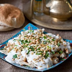 I've only just discoveredfatteh- a Levantine dish of crumbled, toasted pita covered in warm chickpeas and cool, tangy yogurt sauce - but I'm in love. It's easy to prepare, often vegetarian, makes...