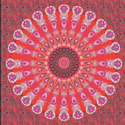Boho Mandala Print Tapestry Wall Hanging Art Decor
