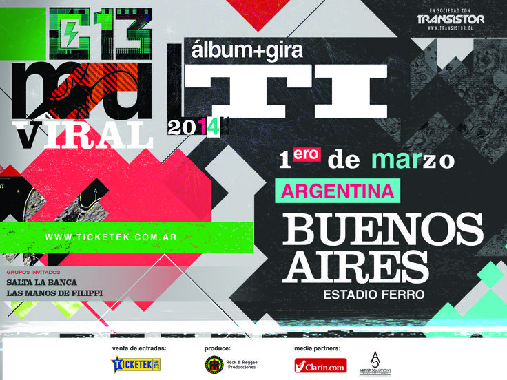 Calle 13 Estadio Ferro - 1o de marzo 2014