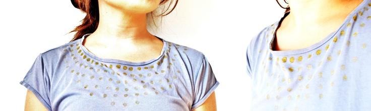 sundaymorning: Rinnovare una maglietta con i pois /diy pois t-shirt