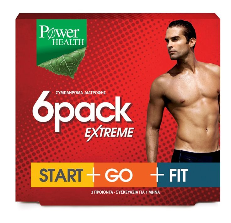 Power Health 6Pack Extreme Start+Go+Fit Αποτελεσματικό Αδυνάτισμα Για Όμορφο Και Καλοσχηματισμένο Ανδρικό Σώμα 3x30caps. Μάθετε περισσότερα ΕΔΩ: https://www.pharm24.gr/index.php?main_page=product_info&products_id=7362