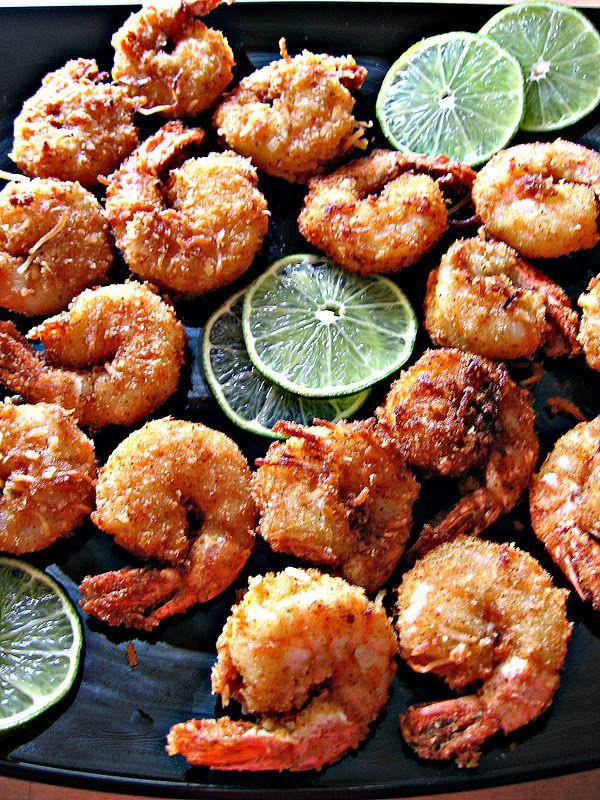 Crevettes panées, coco et citron vert un délice