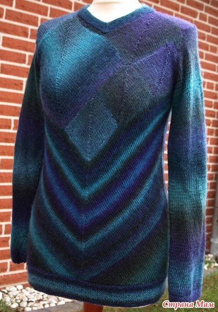 """Ну что, девочки, приступаем к работе? Начинаем вязать пуловер в технике """"печворк"""".  Опрос проходил здесь:http://www.stranamam.ru/"""