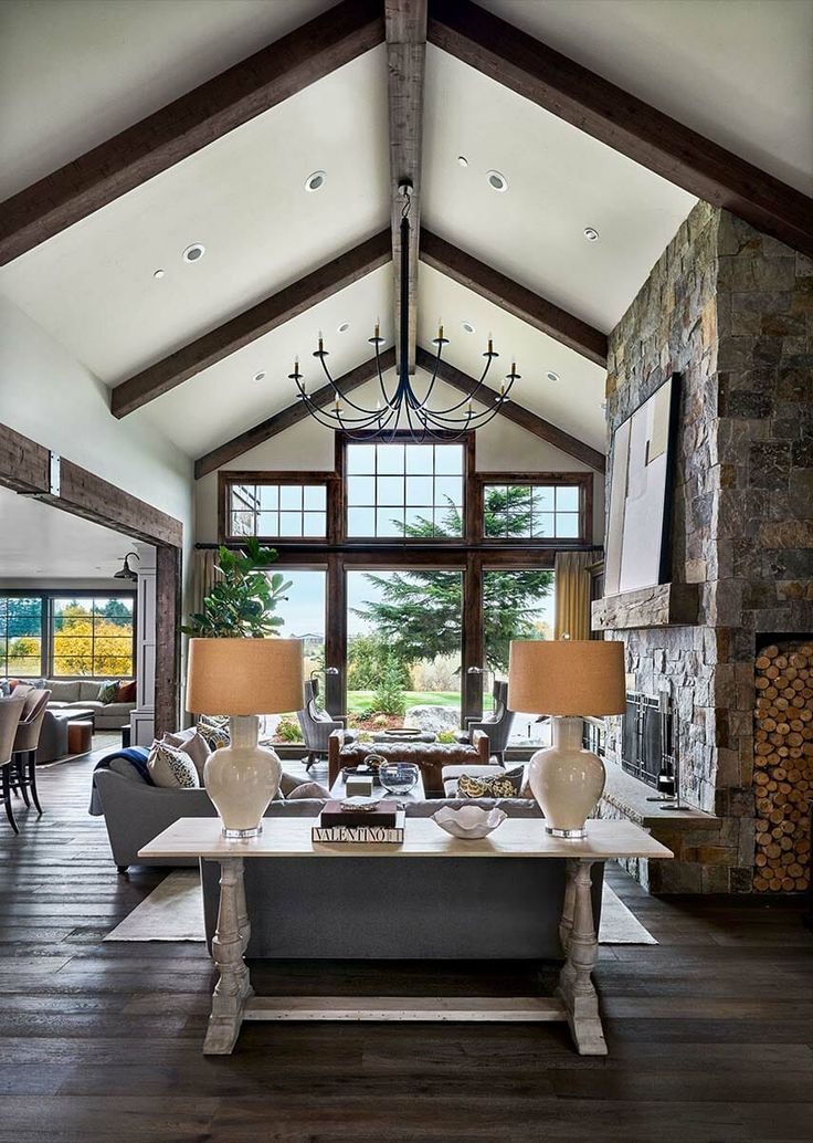 Fresh Rustic Interior Design Ideas Living Room: Homes, Transitional Style And Architecture