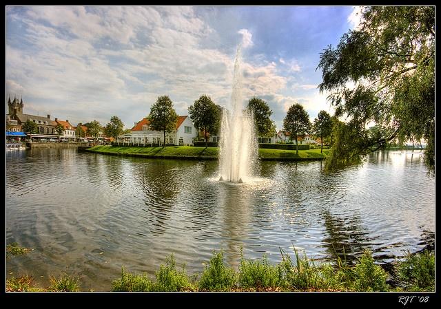 Sluis, Netherlands. Biking from Brugge to Sluis along the canal in June!