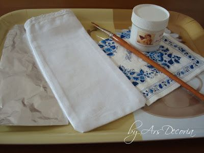 Arsdecoria - Handmade: DECOUPAGE NA TKANINIE - tutorial