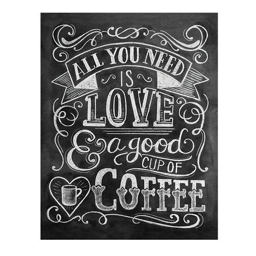 Art Group 'Coffee' by Lily & Val Typography