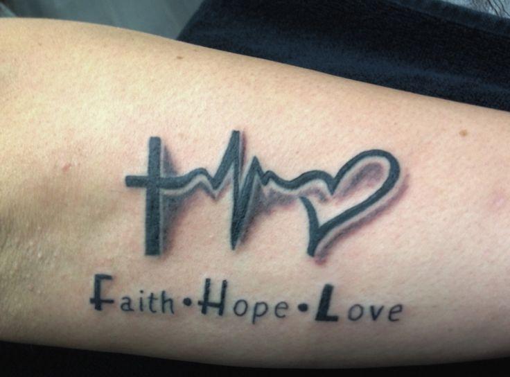 25 beste idee n over faith hope love tattoo op pinterest for Hope symbol tattoos