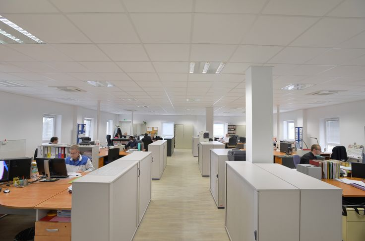 Open space, construction #Legoupil Industrie, #bâtiment #modulaire.