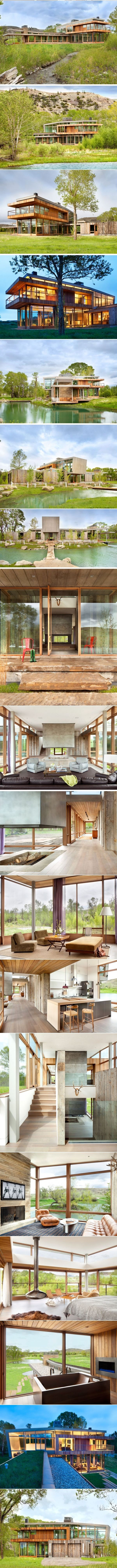 This Riverside House Lives Among The Hills Of Montana | CONTEMPORIST