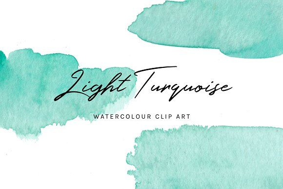 20 Turquoise Watercolour Textures Turquoise Watercolor Clip Art