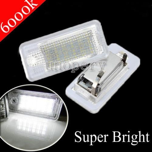 18 LED 6000K License Number Plate Light Lamp For Audi A3 S3 A4 S4 B6 B7 A6 S6 A8 Q7 NO Canbus Error - $20.99