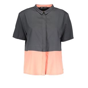Gsus color block blouse, White Offwhite, medium