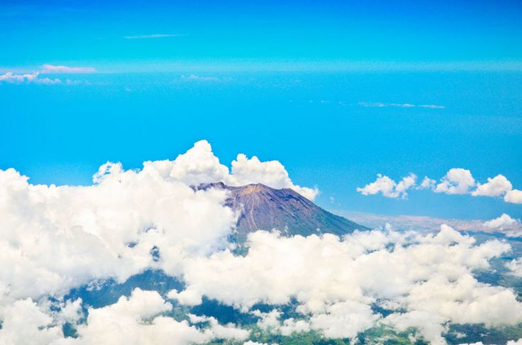 Aerial-view-of-volcano-Gunung-Agung-in-Bali