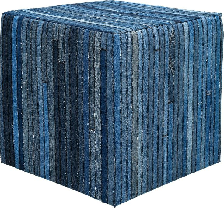 KARE Design Hocker Denim 45x45cm Blau Würfelform NEU
