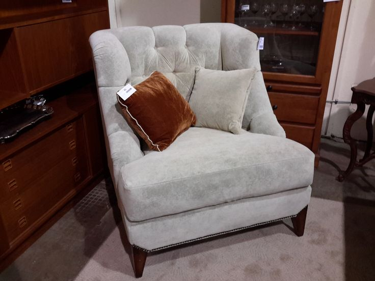 Custom Large Swoop Chair & 2 Toss Cushions   The Millionaire's Daughter