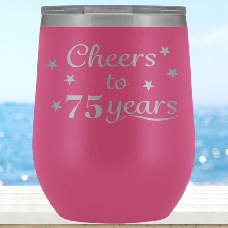75th birthday wine glass 75 birthday gifts for women cute