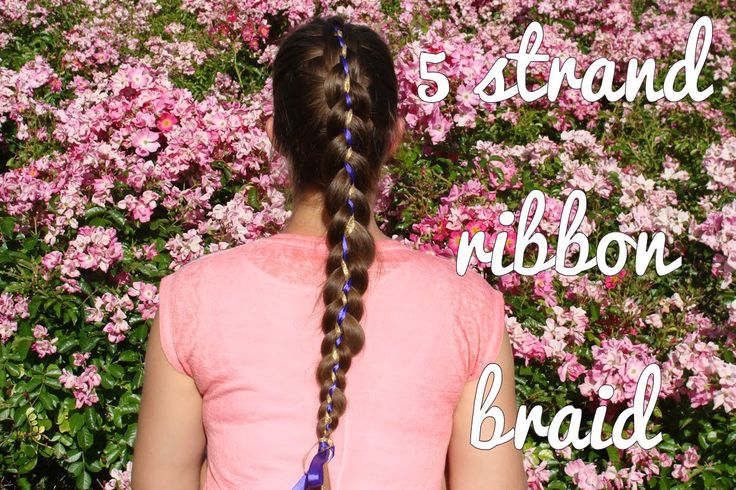 Learn how to do this 5 strand ribbon braid yourself! Also subscribe to my channel!