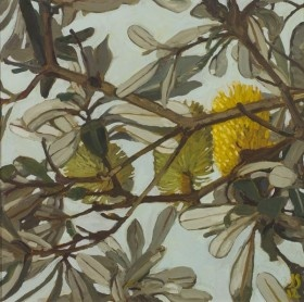 BANKSIA AND SKY STUDY #6 by JUDITH SINNAMON represented by Edwina Corlette Gallery - Contemporary Art Brisbane