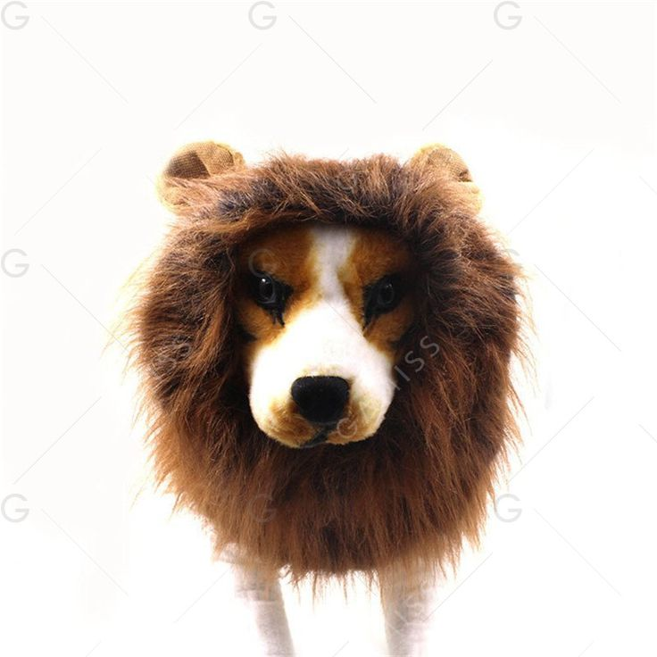 Lion Mane for Dog Halloween Gift - LIGHT BROWN