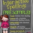 Freebie...Interactive Spelling With The Common Core