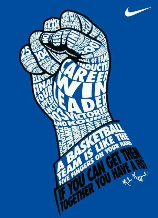 Inspiration from Duke Basketball and Coach K!