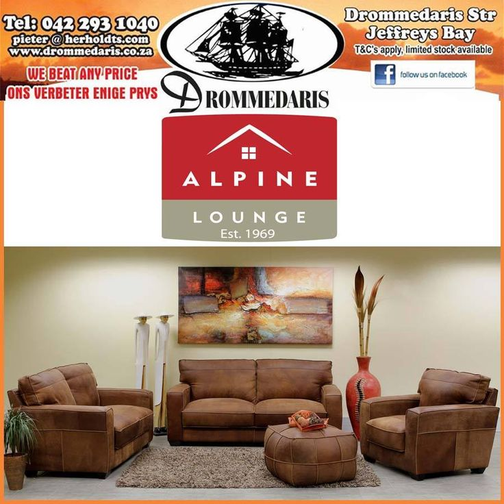 The high back rest provides the ultimate in head and neck support, ensuring comfort. Visit us at Drommedaris and try out our luxurious range of Alpine Lounge furniture. #alpinelounge #lifestyle #homeimprovement