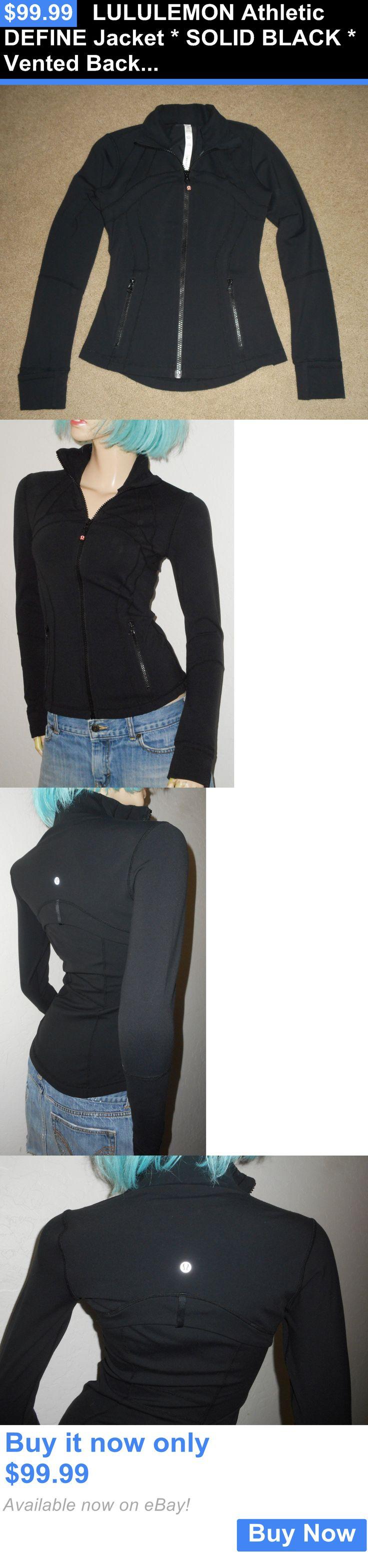Women Athletics: Lululemon Athletic Define Jacket * Solid Black * Vented Back Yoga Gym New Sz 4 BUY IT NOW ONLY: $99.99