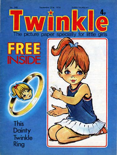 Twinkle Comic 348 (21 September 1974) - my Auntie used to send me this from England - rolled up with candy inside! -mf