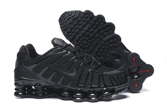 Nike Shox TL Black/Metallic Hematite/Max Orange/Black AV3595 ...