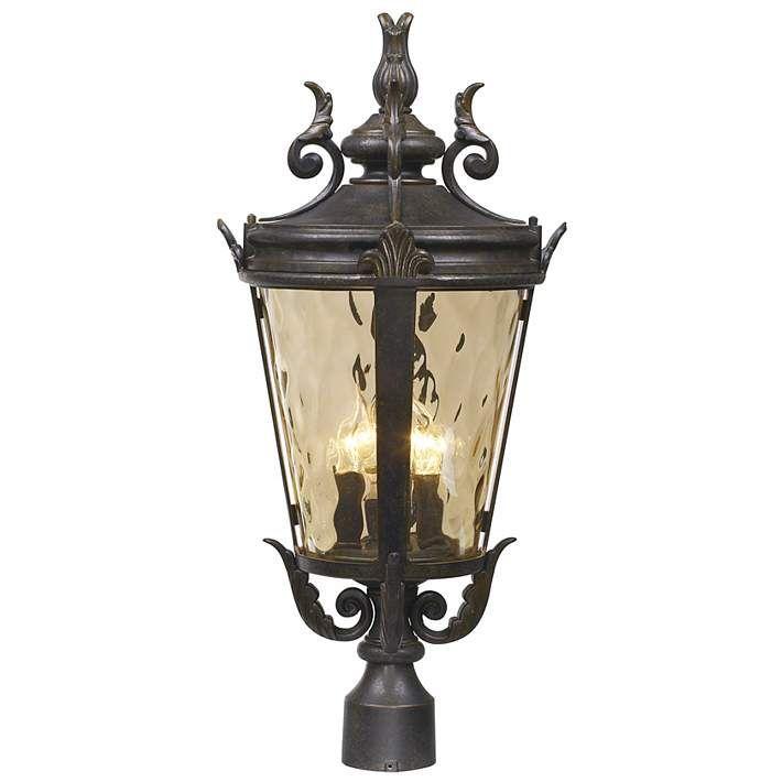 Casa Marseille 25 High Bronze 4 Light Outdoor Post Light 61710 Lamps Plus In 2020 With Images Outdoor Post Lights Lamp Post Lights Post Lights