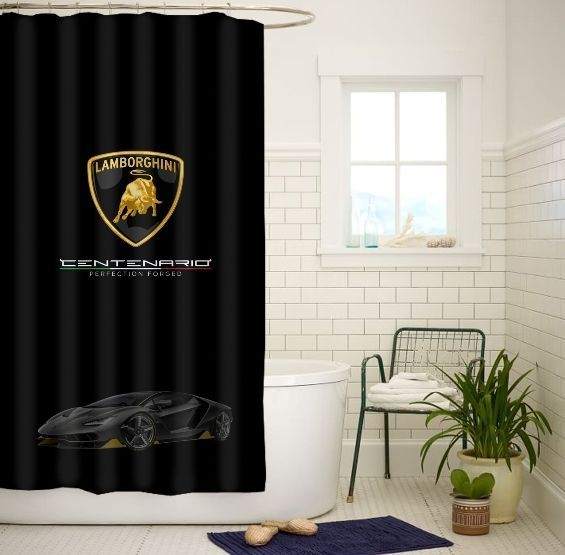 Lamborghini Centenario High Quality Custom Shower Curtain Size 60x72 and 66x72 #Unbranded