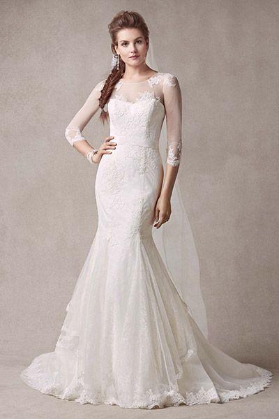 Um dos únicos vestidos calda de sereia que gostei até hoje! Mermaid wedding gown by Melissa Sweet