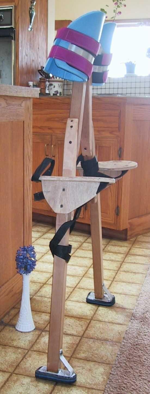 Plans for DIY strap on stilts
