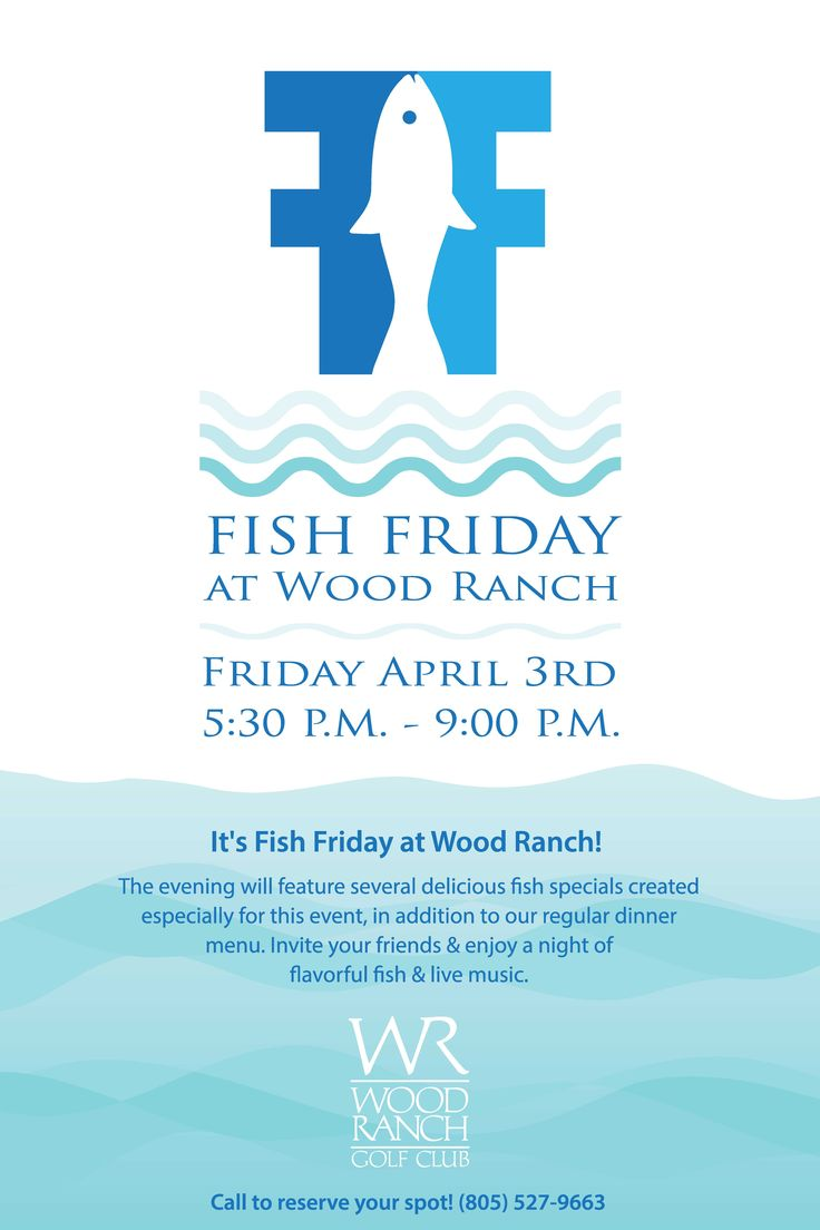 fish friday flyer poster template