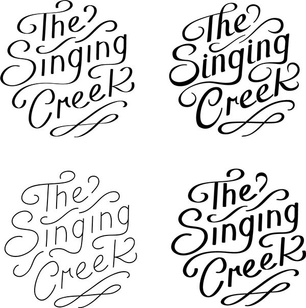 Mock Logo for The Singing Creek