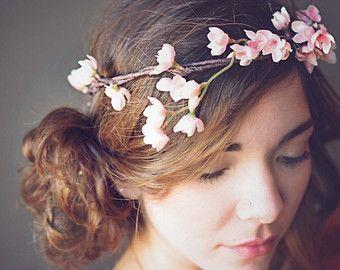 Rosa Fiore Corona, Halo, nuziale corona di fiori, Prom, Capelli sposa, accessori, capelli Corona, copricapo da sposa, Capelli Woodland, Beach