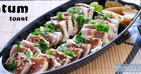 como fazer sashimi de atum grelhado. Uma das opções para quem está iniciando na comida japonesa.