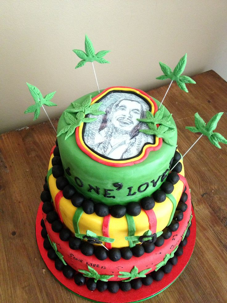Happy Birthday Bob Marley Cake
