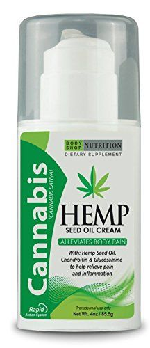 Cannabis Hemp Seed Oil Cream - 100% Natural (Seed Oil Cream) Transdermal use only - Net. Wt. 4 oz/ 85.5g - Dietary Supplement