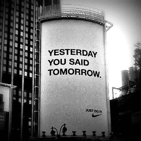 I would never have thought a Nike advert would be so #motivational but  after months