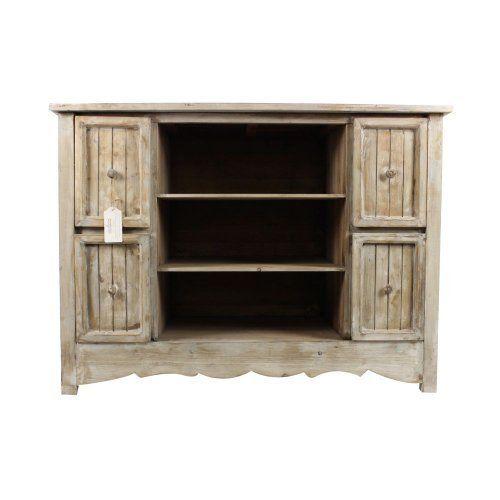 260 22 25 livraison meuble bas rangement bois ceruse for Autrefois decoration