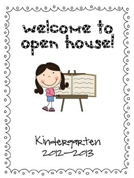 Here's a cute freebie! Staple the kindergarten open house parent packet cover page to the front of your handouts for parents for open house night. ...