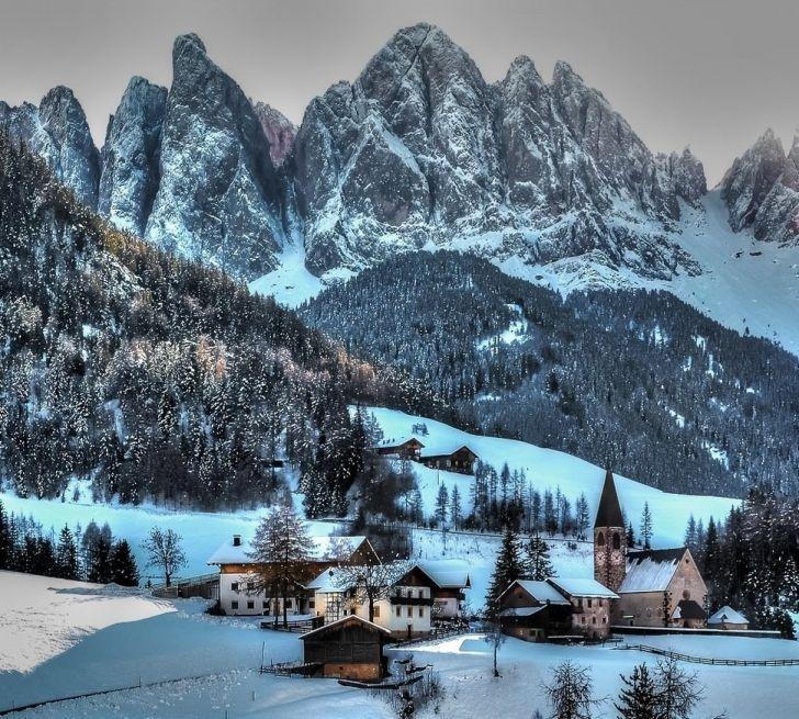 22 Städte, die im Winter in Postkarten umgewandelt wurden