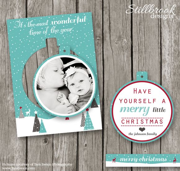 Pop Out Christmas Card Template by Stillbrook Designs on Creative Market