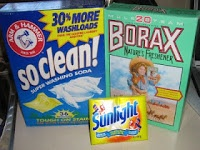 Homemade laundry soap - 1 c 20 Mule Team Borax 1 c Arm and Hammer Washing Soda Don't get this confused with Baking Soda-not the same!!! 1 Sunlight Soap Bar–as a stain remover. Soaps used in other recipes Fels-Naptha Zote and traditional Ivory bar soap (the basic one with no additional scents or moisturizers). Ace Hardware and Wal-Mart Superstore for $1.00 a bar.