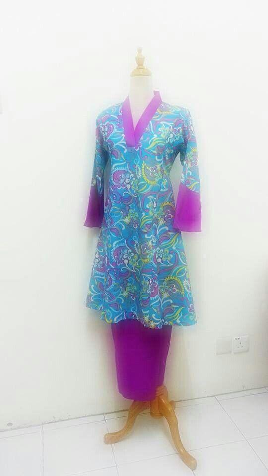 Kurung pahang leher kimono
