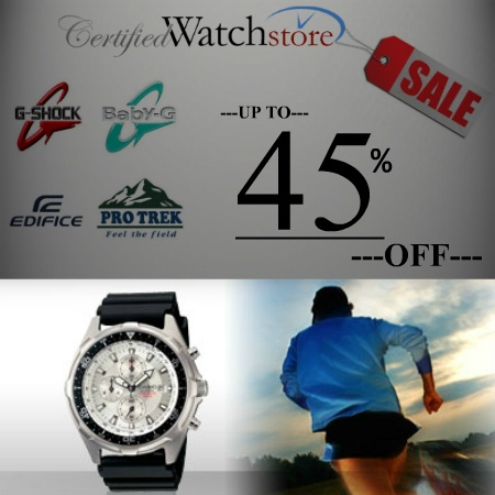 Ready for Adventure, Meeting, or Fashion? CertifiedWatchStore.com offers the deepest discounts up to 45% OFF on Casio Protrek Triple Sensor Pathfinder watches, Casio Sea Pathfinder watches, Casio G-Shock watches, Casio Baby G Shock Watches, and much more! https://www.facebook.com/CertifiedWatchStore