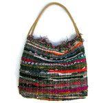 Large Boho Chic Hobo Shoulder Kilim Bag